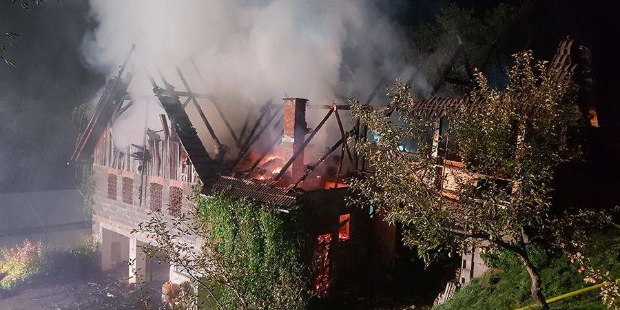 Haus, Feuer, Feuerwehr, Lavanttal, Unterkärntner