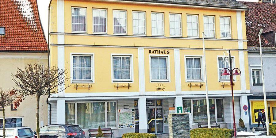 Das Rathaus in Bad St. Leonhard.